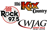 106KIX Country-WJAG-Lite Rock 97.5